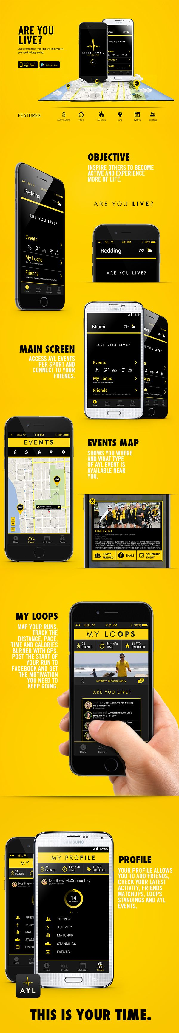 Livestrong // Are You Live? on Behance