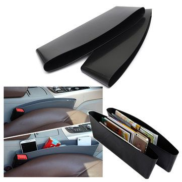 2Pcs Black Car Interior Catch Catcher Storage Organizer Box Seat Slit Pocket Sale - Banggood.com