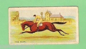 THE PEARL (Aus) B c 1866, New Warrior (GB) - Ida. Trained and owned by John Tait. Ridden by J. Cavanagh. Winner 1871 Melbourne Cup in 3:39.0 and the first at odds of 100/1. Tait had two horses in the race, the other being Pyrrhus, the far more favoured of the two but interference in the race allowed The Pearl a clear run and he crossed the line two lengths clear of Romula and Irish King with the lightweight of 45.8kg. (1906 Cigarette Memorabilia Card).