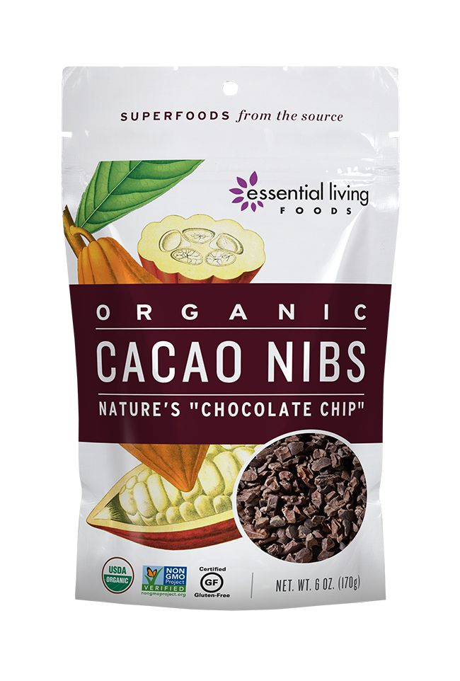 Cacao nibs are the original dairy-free, sugarless chocolate chip: crunchy, flavorful and packed with powerful nutrients that can naturally lift one's mood. Add to raw granola, energy bars, trail mix, smoothies or desserts, or simply snack on a handful of these crunchy treats for a concentrated burst of nutrients and energy that will keep you whistling all day!