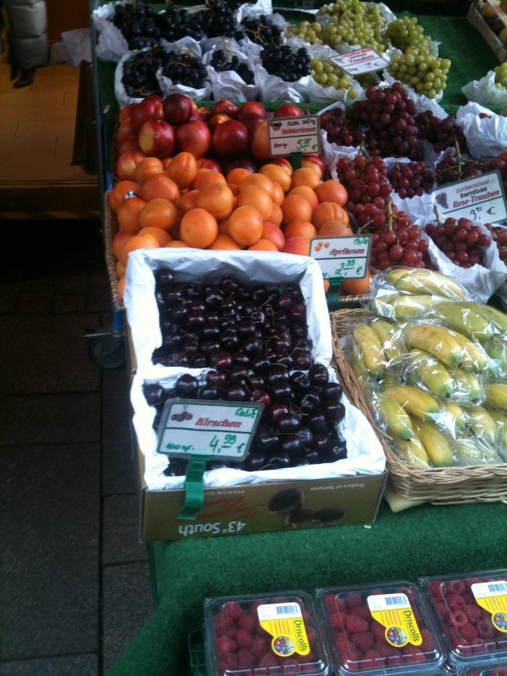 great fruit market in Germany