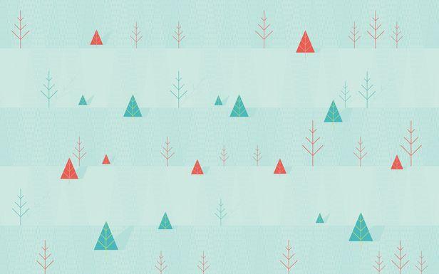 Simple Winter desktop wallpaper