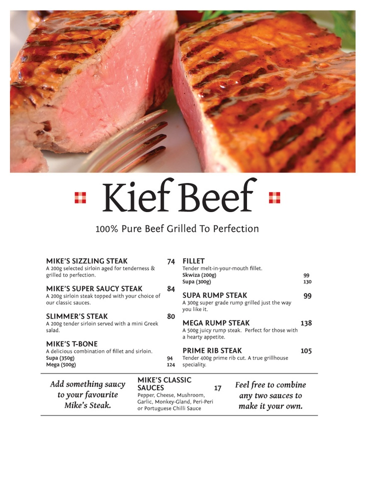 Kief Beef 100% Pure Beef Grilled to Perfection