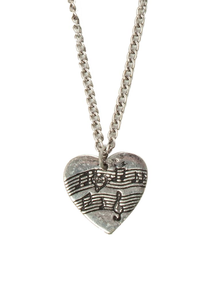 LOVEsick Sheet Music Heart Necklace   Hot Topic