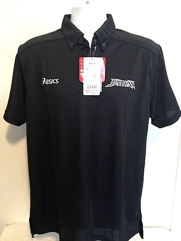 ASICS Pro Mens Japan Logo Polo Quick Dry Shirt- Size XL  #ASICS #ShirtsTops