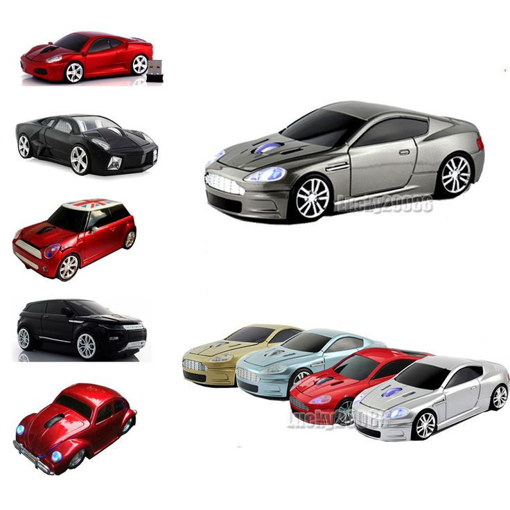 HOT Cordless 2.4Ghz Wireless Optical Car Mouse Laptop PC Game Mice USB Receiver