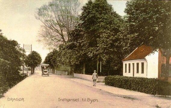 Indkørslen til Dragør med bussen til Sundby Remise