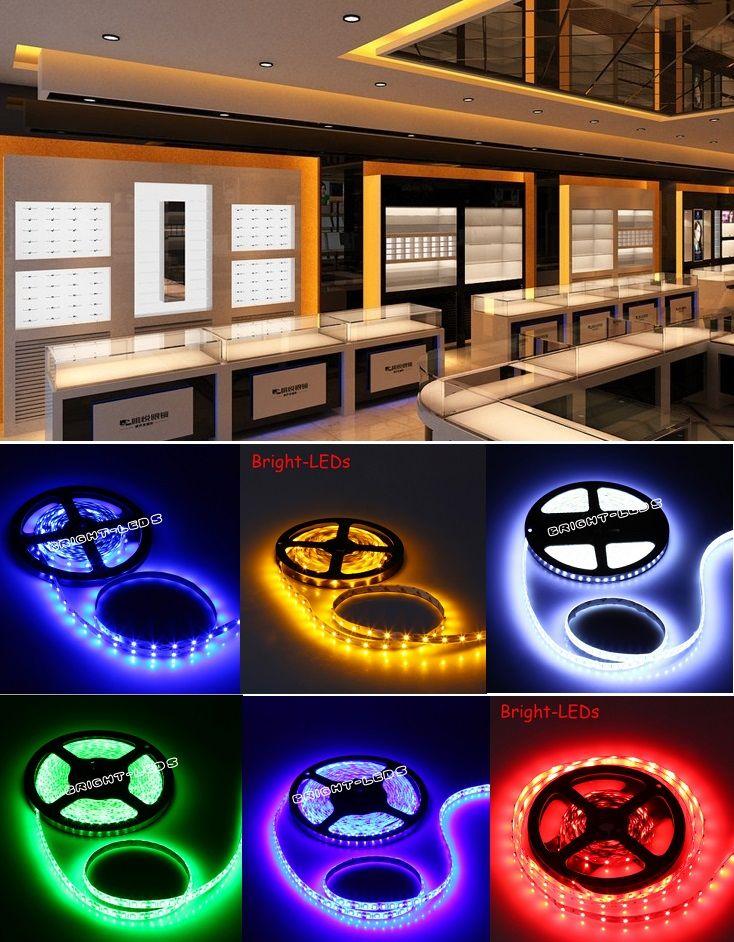 5M DC12V led Flexible Strip cabinet Light lights non-waterproof novelty households decoration
