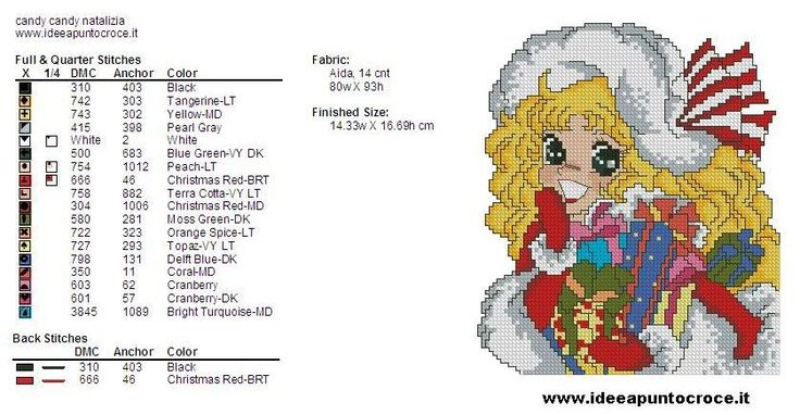 Cross Stitch *<3* colori candy natalizia