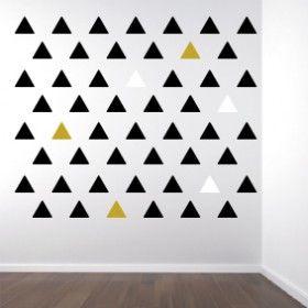 Muurstickers Driehoekjes 3 kleuren