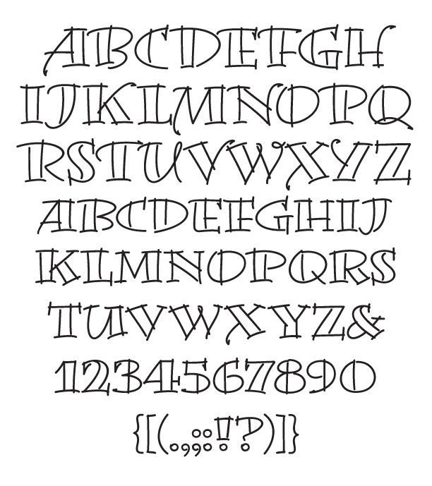 creative hand lettering alphabets | Artistic Writing Fonts. Would look pretty on…