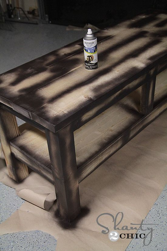 Distress spray Paint Technique. add Vaseline to corners and areas to sand off/distress after painting top color with regular paint and brush. #diy