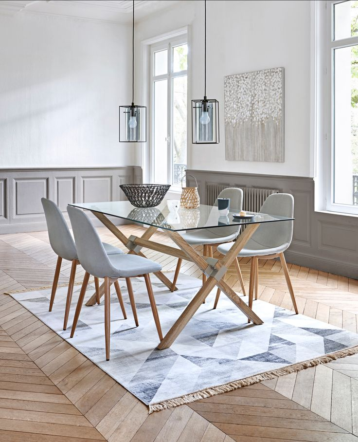 Table de cuisine style scandinave for Table salon style scandinave