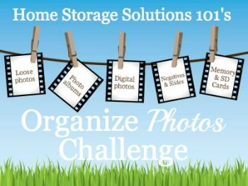 How to organize loose photos, photo albums, digital photos, negatives, and more in this week's 52 Weeks to an Organized Home Challenge.