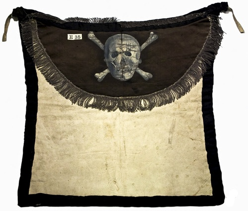 A Royal Master Mason's Apron that was worn from 1810-1823 by the first Masters of Colombian Council No. 1, New York.