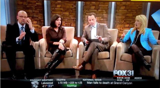 Fox affiliate KDVR, a Denver TV station, accidentally aired a photo of a man's penis during a broadcast about the helicopter crash in Seattle Tuesday.