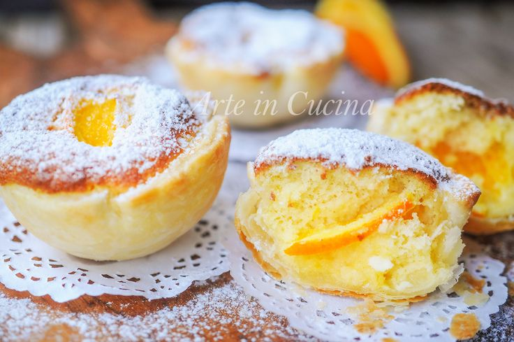 Tortine arancia e ricotta con guscio di sfoglia vickyart arte in cucina