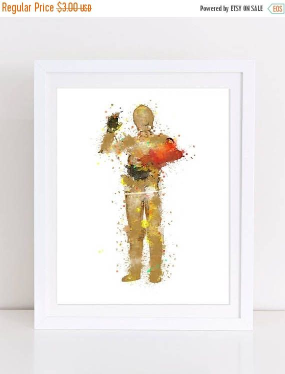 60%OFF Star Wars C3PO Red Arm Watercolor Poster printable star