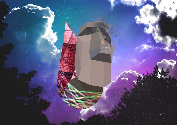폴리곤아트형식으로 몽환적인 느낌의 포스터만들기 Polygon art, dreamlike, fantasy, feeling, sense, sensation, impress, sensibility, poster design 한국IT전문학교 웹디 구유정