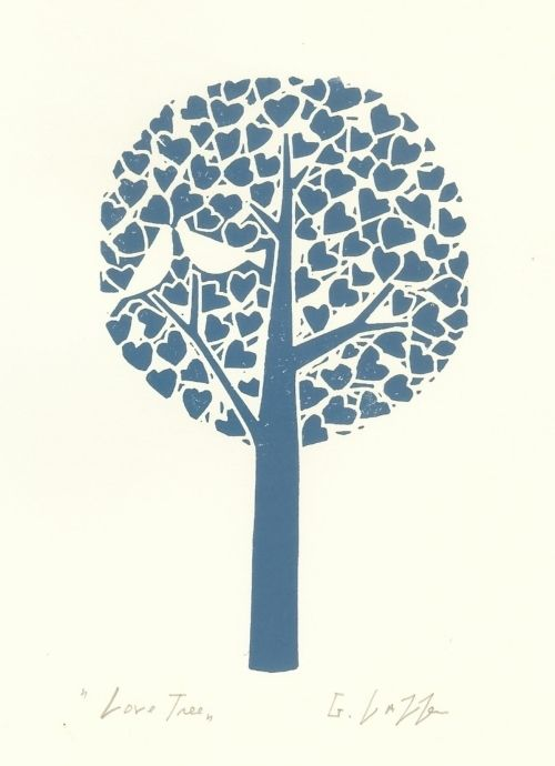Tree Lino Print