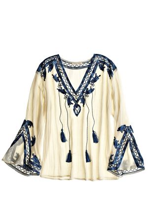 The intricate detailing Calypso St. Barth puts on its loose tunics and dress is unmatched. Loving this scroll top. What's more they have awesome sales.