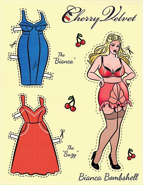 Pin-Up Paper Dolls! – Cherry Velvet Plus http://www.cherryvelvetplus.com/pages/pin-up-paper-dolls