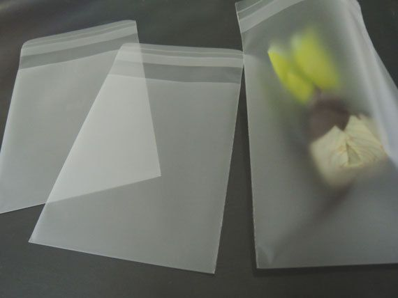 Matt Clear Gift Bags Semi Transparent Bag Self by Heasundries