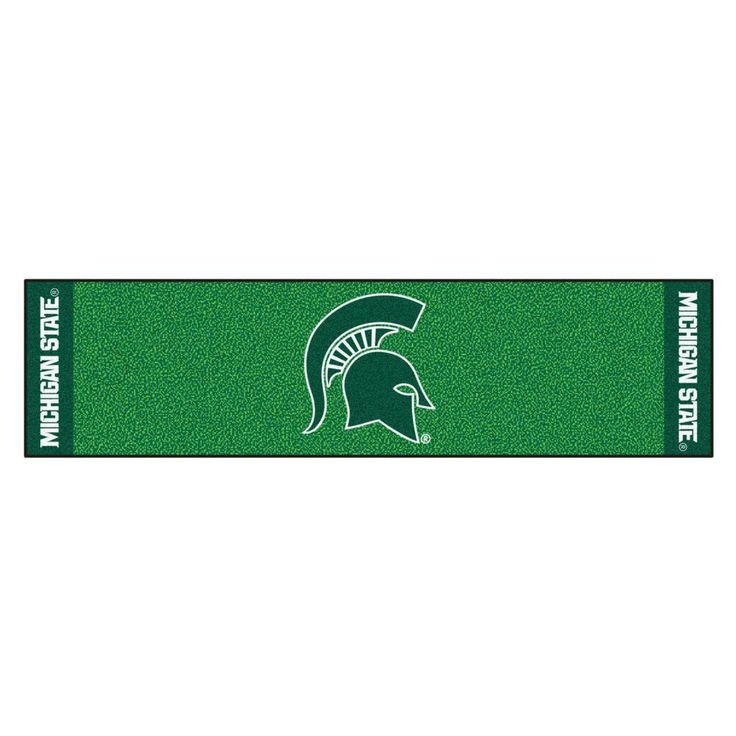 Ncaa Michigan State University 1 ft. 6 in. x 6 ft. Indoor 1-Hole Golf Practice Putting Green