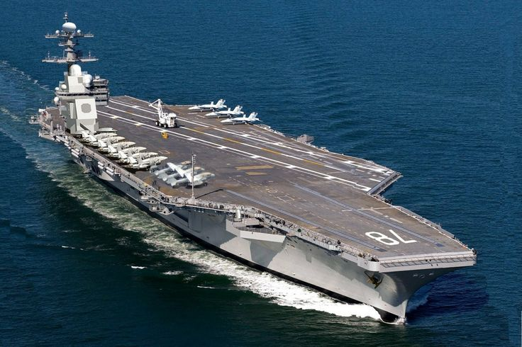 The first Ford-Class and the newest state-of-the-art U.S. Navy Aircraft Carrier, the USS Gerald R. Ford, CVN-78. If transported back in time to WWII, one of these can wipe out the entire Japanese Navy.