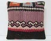 purple pillow black cushion cover bohemian pillow decorative pillow couch southwestern pillow decorative bed pillow kilim pillow sham 18049