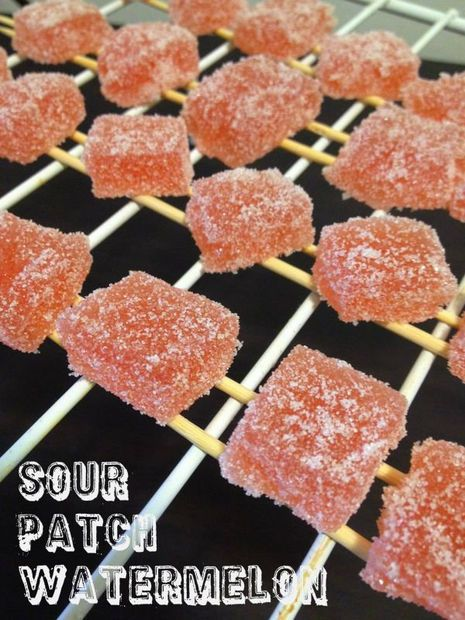 HOMEMADE SOUR PATCH WATERMELON RECIPE!!!!!! these are my favorite candies in the world!