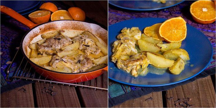Muslos de pollo a la naranja estilo marroquí