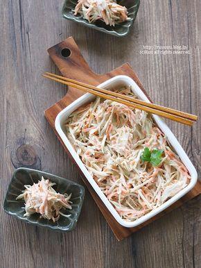 とろ~り♡お惣菜屋さんのごぼうサラダと超とろ~りお惣菜屋さんのごぼうサラダ。