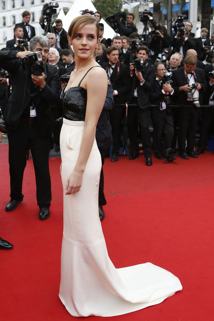 Cannes Red Carpet Dresses 2013 | Emma Watson looked perfectly elegant in a black-and-white silk crepon Chanel dress when she took to the red carpet at the premiere of The Bling Ring