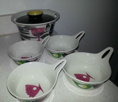 Mid-Century-Figgjo-Norway-Ala-Carte-Casserole-4-Individual-Augratin-Dishes