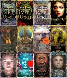 Everworld. A fantasy collection of books that introduce you into the mitology of different cultures in a very entertaining way