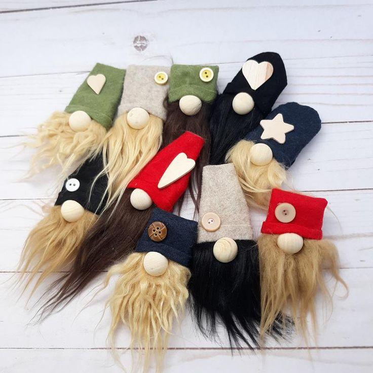 Gnome Magnets- Fridge Magnets – Handmade – Tomte Nisse Scandinavian – Gnome Decor – Gnomes