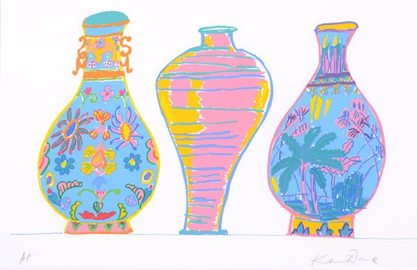 Three Chinese Vases - Ken Done, 1994. Screenprint on Paper, 50 x 70cm