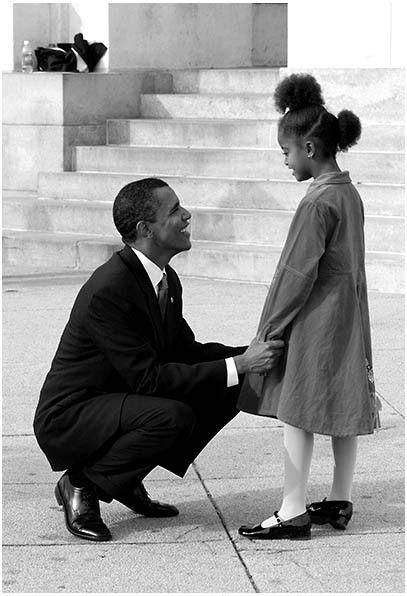 Before Barack Obama was elected as the first African American President of the United States in 2008, he was elected to the Illinois State Senate in 2004, became a father of two in 2001, ahusband in 1992, and the first African American President of the Harvard Law Review in 1990. Here are a few rare photos that capture some of Barack, Michelle, Malia and Sasha Obama's incredible journey to the White House.  The Obama familybefore Sasha was born in 2001.  Malia with her new baby sister...