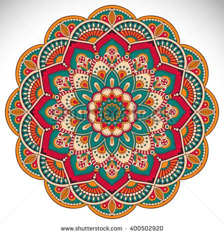 Flower Mandalas. Vintage decorative elements. Oriental pattern, vector illustration. Islam, Arabic, Indian, turkish, pakistan, chinese, ottoman motifs
