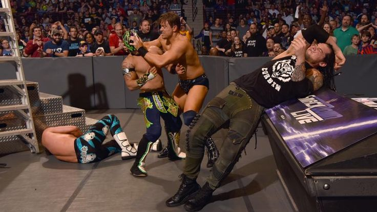 Dolph Ziggler & Kalisto vs. The Miz & Baron Corbin: photos