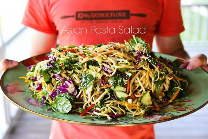air max for cheap online Asian Pasta Salad with a garlic soy vinaigrette and loads of fresh vegetables from foodiewithfamily com