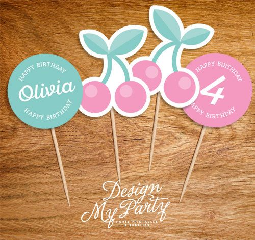Bake Shop Cupcake Toppers Personalised DIY by DesignMyPartyShop