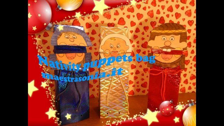 Nativity puppets bag - maestrasonia.it Benvenuti, in questo video sul mio canale YouTube vi propongo dei puppets bag ossia dei pupazzi fatti con dei sacchetti di carta colorata, con l'effetto della bocca che si apre e che si chiude!