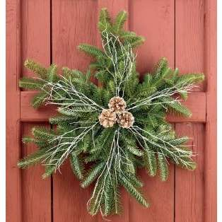 Snowflake - this is a cute wreath for your door.