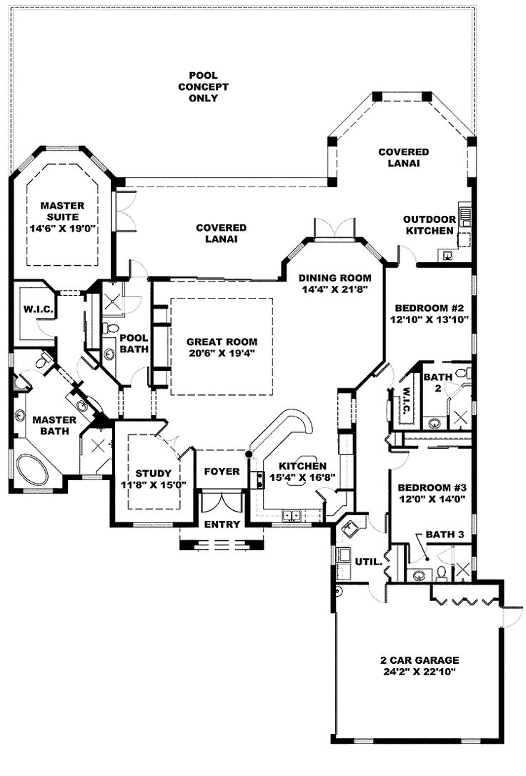 37 best big house plans images on pinterest house floor plans image detail for front kitchen mediterranean home