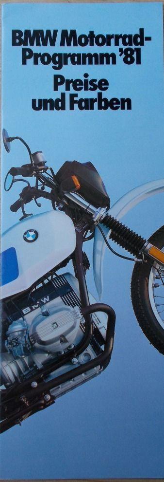 Prospekt BMW Preise + Farben R100 R80 R65 R45 1/81 (1.4.1981) | eBay