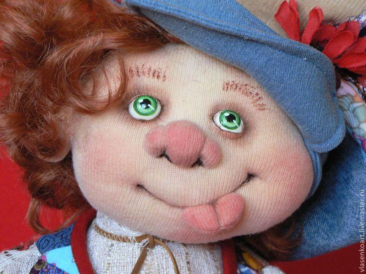 Купить Домовенок с ложкой - разноцветный, домовенок, домовой, интерьерная кукла, текстильная кукла, текстильная игрушка