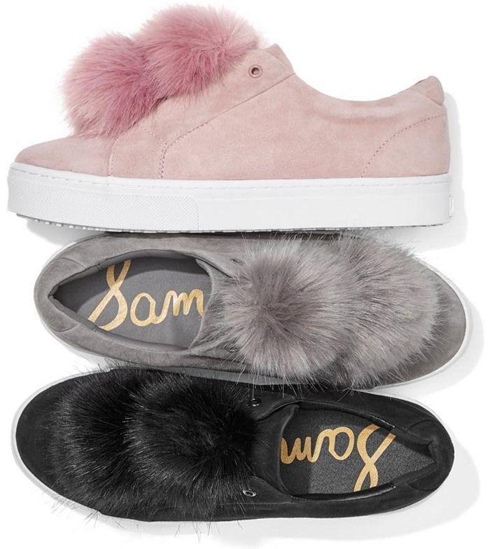 Sam Edelman's 'Leya' Faux Fur Laceless Sneakers