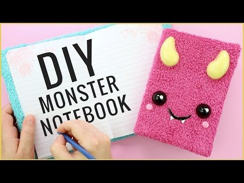Back to School Kawaii Monster Notebook Tutorial